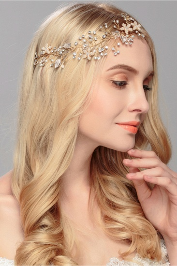 BMbridal Elegant Alloy Imitation Pearls Special Occasion Party Headbands Headpiece with Rhinestone_3