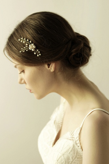 BMbridal Pretty Alloy Daily Wear Hairpins Headpiece with Imitation Pearls