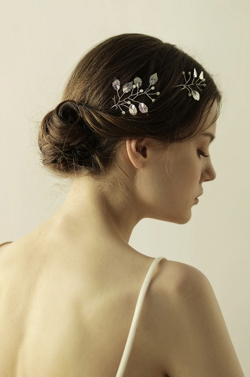 Beautiful Alloy Daily Wear Hairpins Headpiece with Imitation Pearls_9