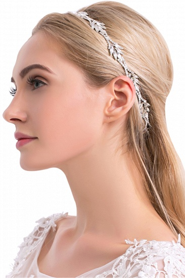 Glamourous Alloy Rhinestone Special Occasion Party Headbands Headpiece with Crystal