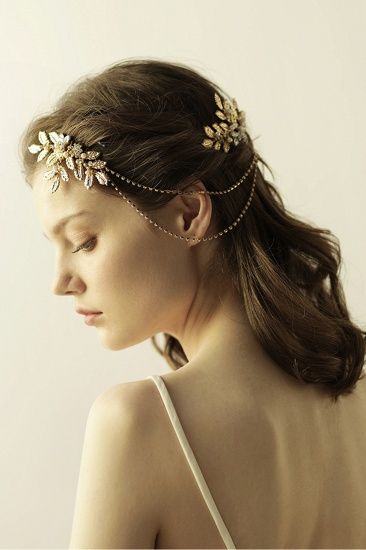 BMbridal Lovely Alloy Rhinestone Party Combs-Barrettes Headpiece with Imitation Pearls_7