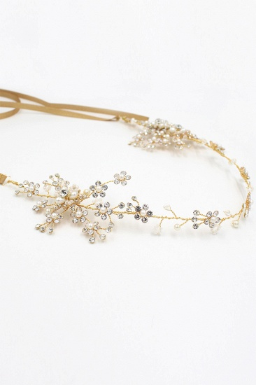 Beautiful Alloy Rhinestone Special Occasion Headbands Headpiece with Imitation Pearls_11