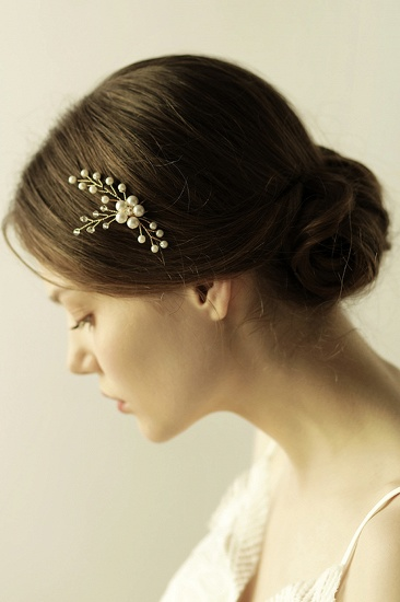 Pretty Alloy Daily Wear Hairpins Headpiece with Imitation Pearls_6