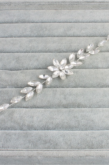 BMbridal Flower Alloy Rhinestone Special Occasion Hairpins Headpiece with Crystal_3
