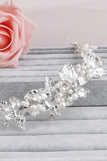 Glamourous Alloy Imitation Pearls Special Occasion Hairpins Headpiece with Rhinestone_2