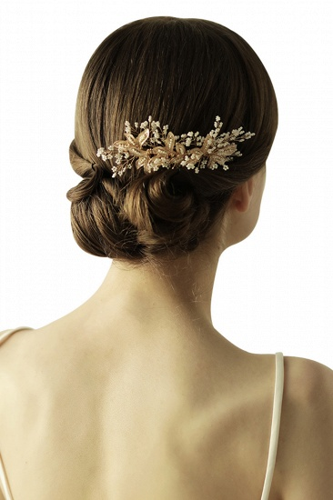 Beautiful Alloy Daily Wear Combs-Barrettes Headpiece with Imitation Pearls_5