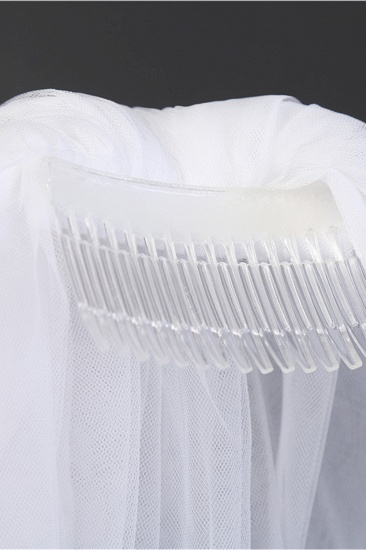 BMbridal Affordable Tulle Cut Edge Wedding Veil_6