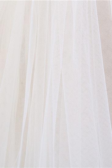 Glamourous Tulle lace Applique Edge Wedding Veil_7