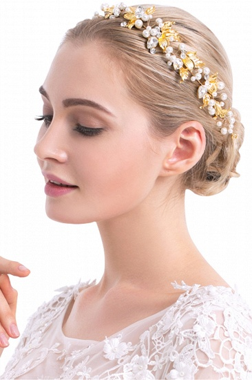 Glamourous Alloy Imitation Pearls Special Occasion Hairpins Headpiece with Rhinestone