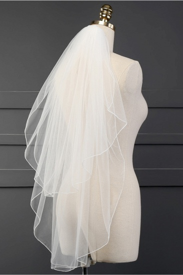 Affordable Tulle Cut Edge Wedding Veil