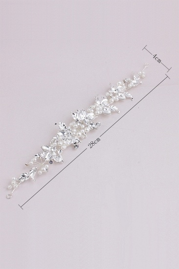 Glamourous Alloy Imitation Pearls Special Occasion Hairpins Headpiece with Rhinestone_7