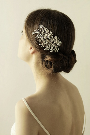 Elegant Alloy Imitation Pearls Special Occasion Combs-Barrettes Headpiece with Rhinestone_3