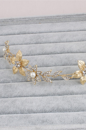 BMbridal Floral Alloy Imitation Pearls Daily Wear Hairpins Headpiece with Rhinestone_5