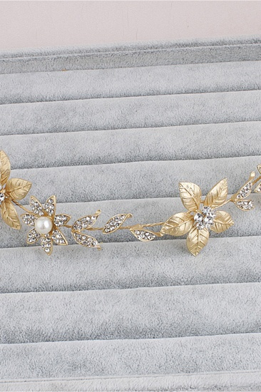 BMbridal Floral Alloy Imitation Pearls Daily Wear Hairpins Headpiece with Rhinestone_7