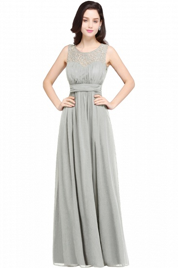 Elegant Lace Chiffon Affordable Long Navy Bridesmaid Dresses In Stock_6