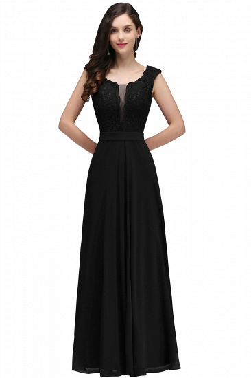 BMbridal Elegant Lace A-line Long Burgundy Prom Dress_6