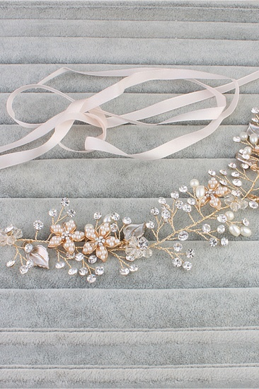 BMbridal Elegant Alloy Imitation Pearls Special Occasion Party Headbands Headpiece with Rhinestone_5