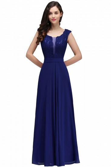 BMbridal Elegant Lace A-line Long Burgundy Prom Dress_4