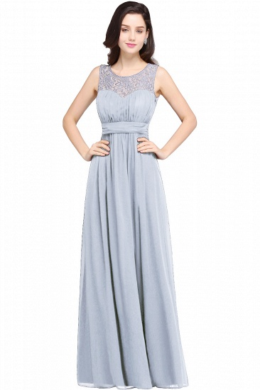Elegant Lace Chiffon Affordable Long Navy Bridesmaid Dresses In Stock_3