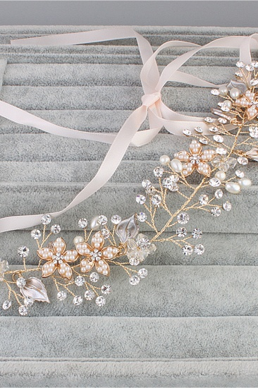 BMbridal Elegant Alloy Imitation Pearls Special Occasion Party Headbands Headpiece with Rhinestone_4