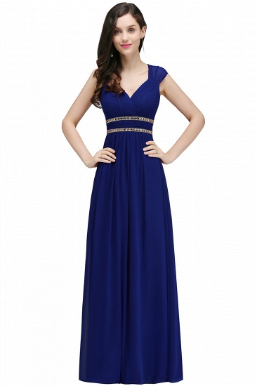 BMbridal Vintage Burgundy Cap Sleeve Chiffon Long Evening Dress_6