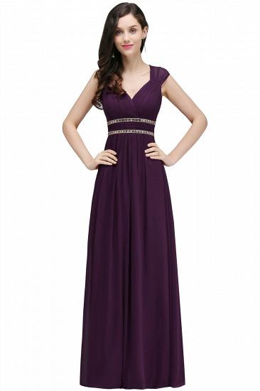 BMbridal Vintage Burgundy Cap Sleeve Chiffon Long Evening Dress_4