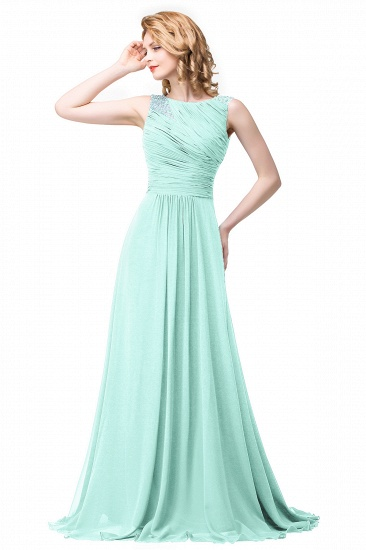 BMbridal Chiffon A-line Sexy Sparkly Crystal Long Prom Evening Dress_3