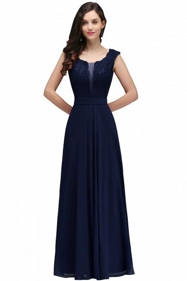 BMbridal Elegant Lace A-line Long Burgundy Prom Dress_5