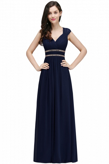BMbridal Vintage Burgundy Cap Sleeve Chiffon Long Evening Dress_7