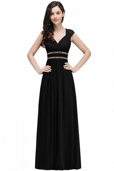 BMbridal Vintage Burgundy Cap Sleeve Chiffon Long Evening Dress_8