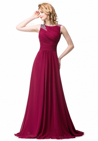 BMbridal Chiffon A-line Sexy Sparkly Crystal Long Prom Evening Dress_1