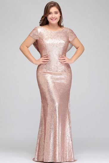 BMbridal Women Sparkly Rose Gold Long Sequins Bridesmaid Dress_11