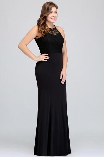 Plus Size Mermaid Square Lace Black Bridesmaid Dress Online_7