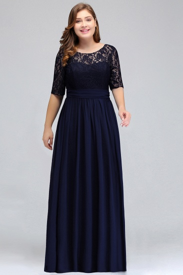 BMbridal Plus Size Elegant Half-Sleeves Lace Bridesmaid Dresses with Bow_6