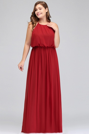Plus Size A-Line Ruffles Red Bridesmaid Dress