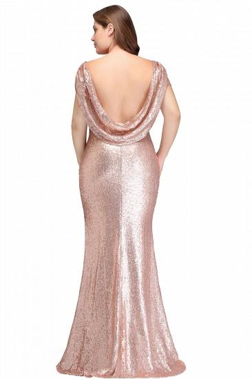 BMbridal Women Sparkly Rose Gold Long Sequins Bridesmaid Dress_12