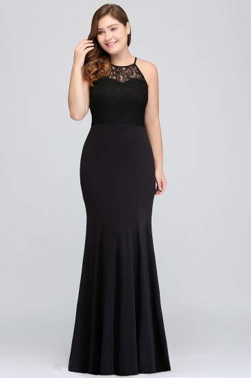 Plus Size Mermaid Lace Square Long Bridesmaid Dress