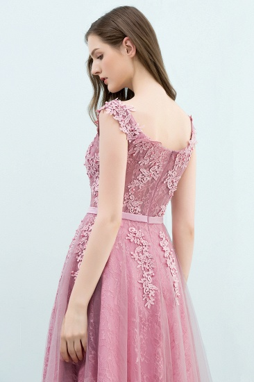 BMbridal Lovely Dusty Pink Short Homecoming Dress With Lace Appliques_9