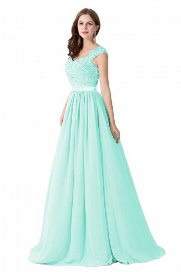 BMbridal A-line V Neck Chiffon Bridesmaid Dress with Appliques_9