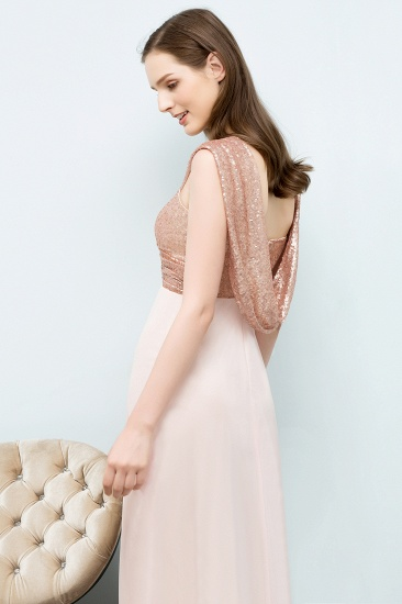 BMbridal A-line Sweetheart Off-shoulder Spaghetti Long Sequins Chiffon Prom Dress_7