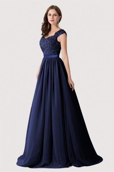 BMbridal A-line V Neck Chiffon Bridesmaid Dress with Appliques_6
