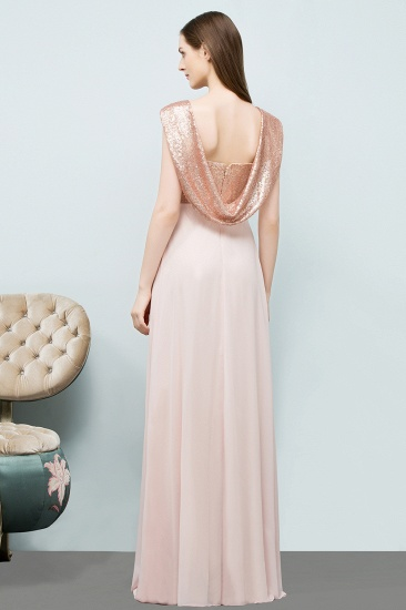 BMbridal A-line Sweetheart Off-shoulder Spaghetti Long Sequins Chiffon Prom Dress_3
