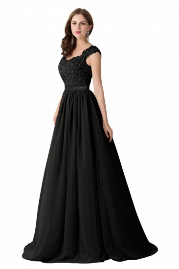 BMbridal A-line V Neck Chiffon Bridesmaid Dress with Appliques_16