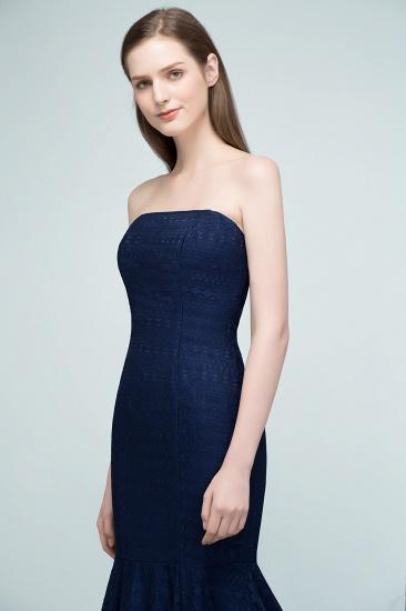 BMbridal Elegant Navy Strapless Lace Mermaid Evening Prom Dress Long Online_6