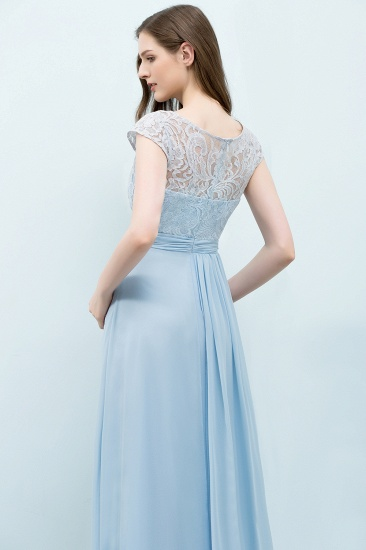 BMbridal Affordable Lace Sleeveless Blue Bridesmaid Dresses With Scoop Cap_6