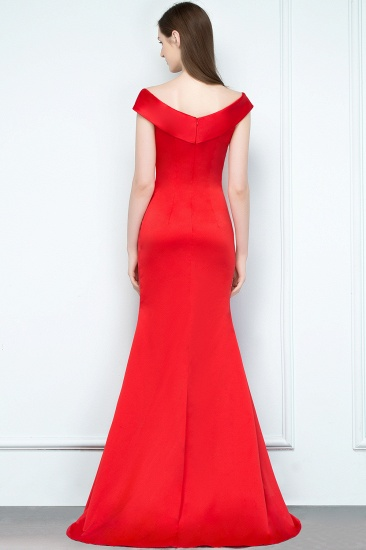Red Off-the-Shoulder Mermaid Prom Dress Long With Split_3