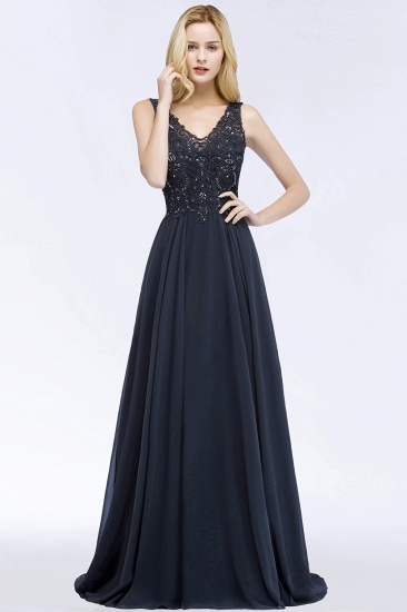 Appliques V-neck Bridesmaid Dress
