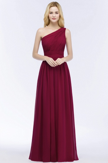 One-shoulder Sleeveless Bridesmaid Dress