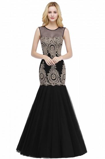 Burgundy Lace Appliques Mermaid Prom Dress Long Online_2