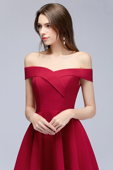 BMbridal A-line Off-the-shoulder Short Burgundy Homecoming Dress_8